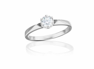 zlatý prsten s diamantem 0.54ct D/VS1 s GIA certifikátem