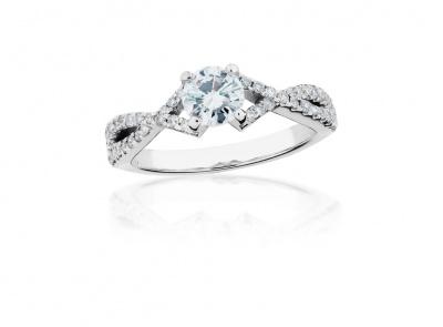 zlatý prsten s diamantem 0.54ct F/VS2 s IGI certifikátem