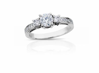 zlatý prsten s diamantem 0.55ct E/VS1 s GIA certifikátem