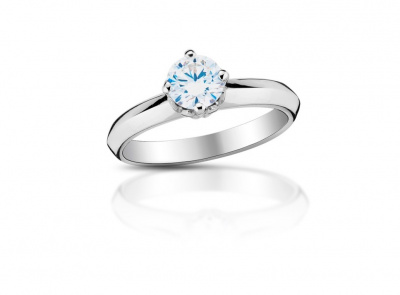zlatý prsten s diamantem 0.56ct H/VS1 s HRD certifikátem