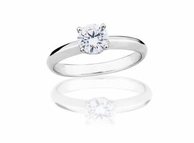 zlatý prsten s diamantem 0.59ct F/VVS2 s IGI certifikátem