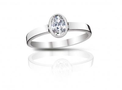 zlatý prsten s diamantem 0.61ct F/SI1 s IGI certifikátem