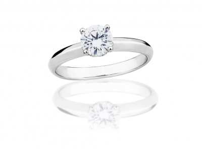 zlatý prsten s diamantem 0.62ct E/VS2 s HRD certifikátem