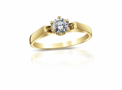 zlatý prsten s diamantem 0.62ct J/VS2 s HRD certifikátem