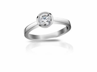 zlatý prsten s diamantem 0.63ct G/SI1 s IGI certifikátem