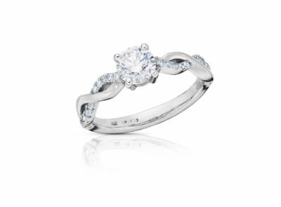 zlatý prsten s diamantem 0.70ct E/SI1 s HRD certifikátem