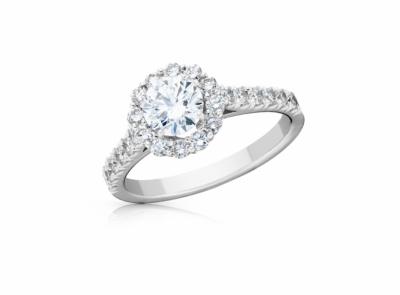 zlatý prsten s diamantem 0.70ct E/VS1 s IGI certifikátem (celkem 1.28ct)
