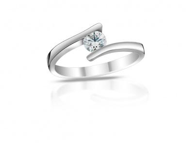 zlatý prsten s diamantem 0.71ct G/SI1 s IGI certifikátem
