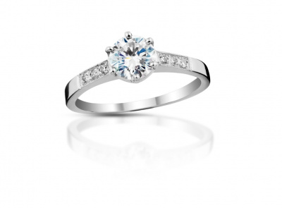 zlatý prsten s diamantem 0.72ct D/VS2 s IGI certifikátem