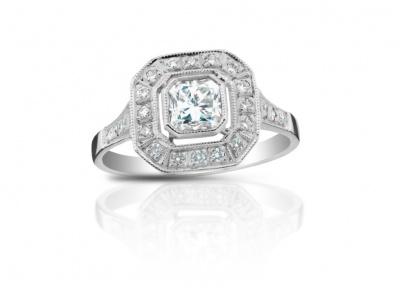 zlatý prsten s diamantem 0.73ct H/SI1 s GIA certifikátem