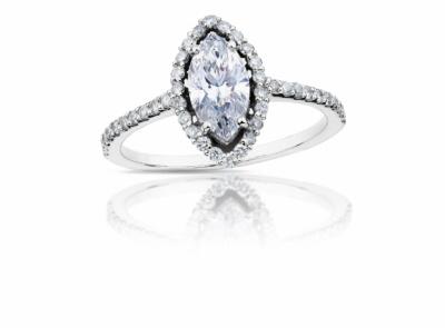 zlatý prsten s diamantem 0.75ct E/VS1 s GIA certifikátem