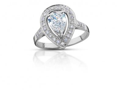 zlatý prsten s diamantem 0.90ct G/VS2 s HRD certifikátem