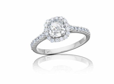 zlatý prsten s diamantem 1.02ct G/VS1 s GIA certifikátem (celkem 1.42ct)