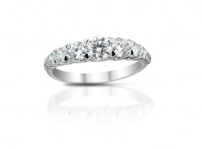 zlatý prsten s diamanty 0.97ct G-I/SI1-SI2 s EGL certifikátem