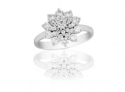 zlatý prsten s diamanty 1.02ct G-H/SI1-SI2 s EGL certifikátem