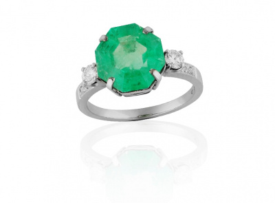 zlatý prsten se smaragdem 4.26ct s certifikátem IGI
