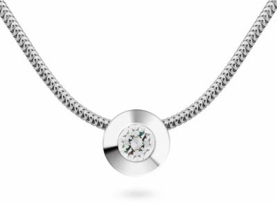 zlatý řetízek s diamantem 0.154ct D/VS1 s IGI certifikátem