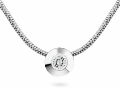 zlatý řetízek s diamantem 0.158ct F/VS2 s IGI certifikátem