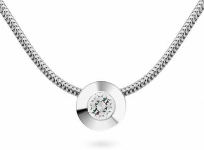 zlatý řetízek s diamantem 0.177ct D/VS2 s IGI certifikátem