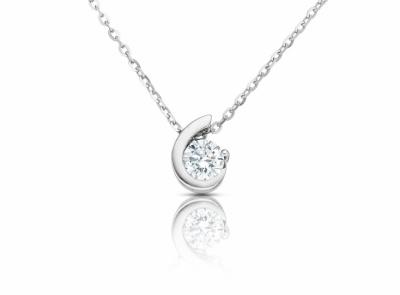 zlatý řetízek s diamantem 0.23ct F/VVS1 s EGL certifikátem