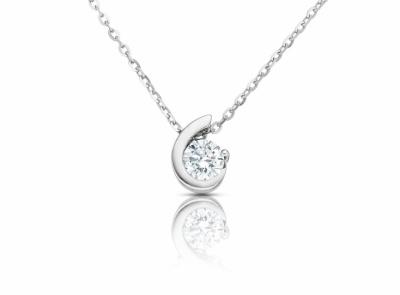 zlatý řetízek s diamantem 0.24ct F/VS1 s EGL certifikátem