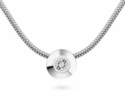 zlatý řetízek s diamantem 0.32ct E/VS1 s GIA certifikátem