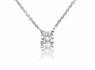 zlatý řetízek s diamantem 0.40ct F/VVS2 s GIA certifikátem