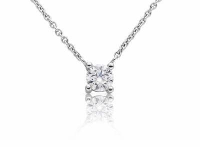 zlatý řetízek s diamantem 0.59ct E/VS2 s GIA certifikátem