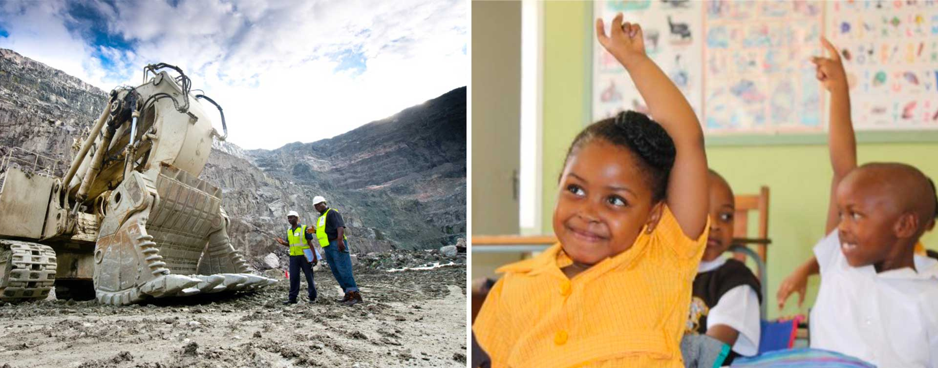 diamantový důl - pomoc dětem