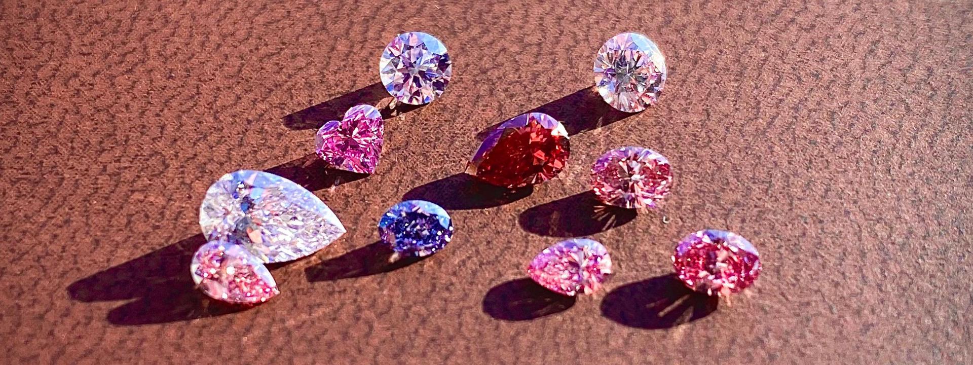 růžové diamanty z dolu argyle
