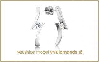 elegantní diamantové náušnice