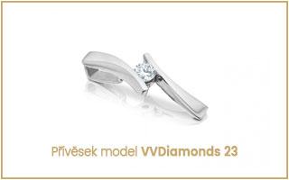 Elegantní přívěsek s diamantem