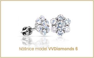 luxusní diamantové náušnice