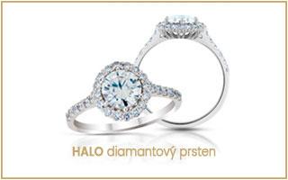 luxusní diamantový prsten