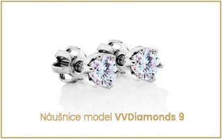 náušnice s diamantem solitér