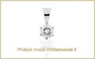 Přívěsek s diamantem solitér