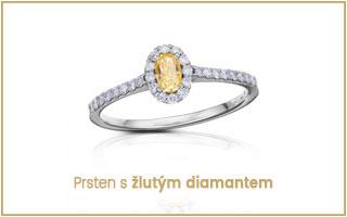 prsten se žlutým diamantem