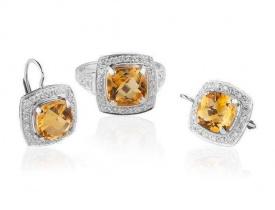 Zlaté šperky s drahými kameny