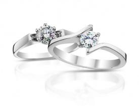 Prsteny z bílého zlata s diamantem