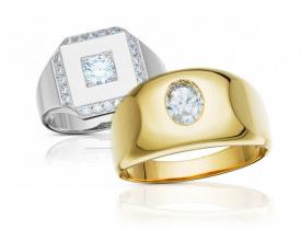 zlaté pánské prsteny