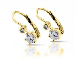 Zlaté náušnice s diamantem