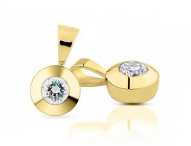 zlaté přívěsky s diamantem