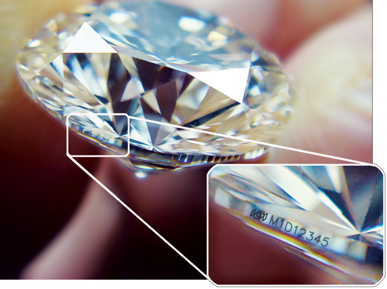 Laserová inskripce diamantu