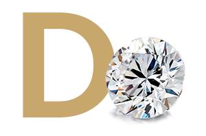 Barva diamantu - D