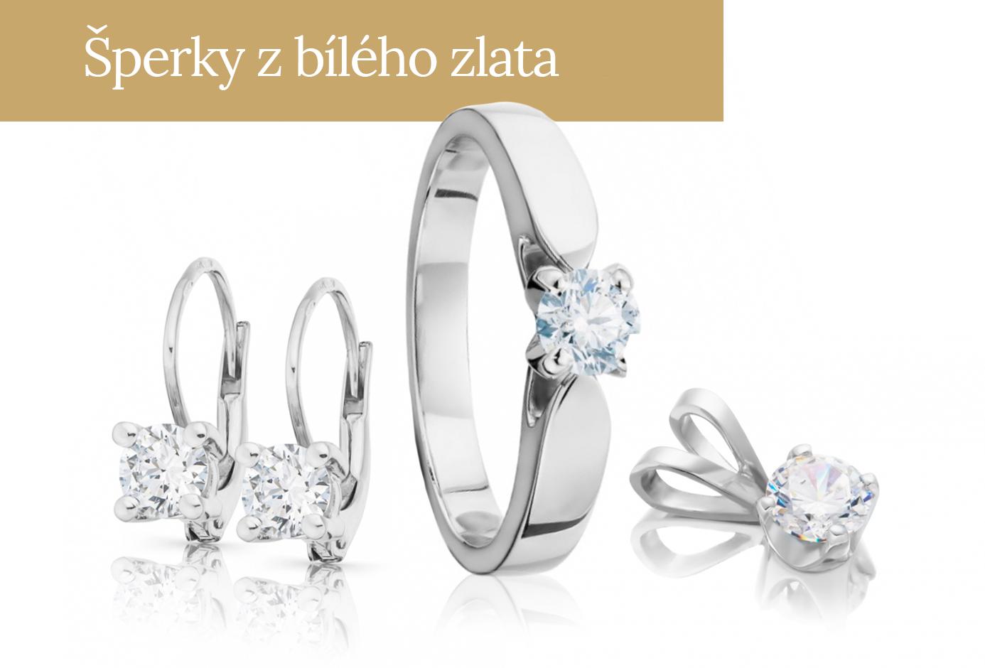 Šperky z bílého zlata
