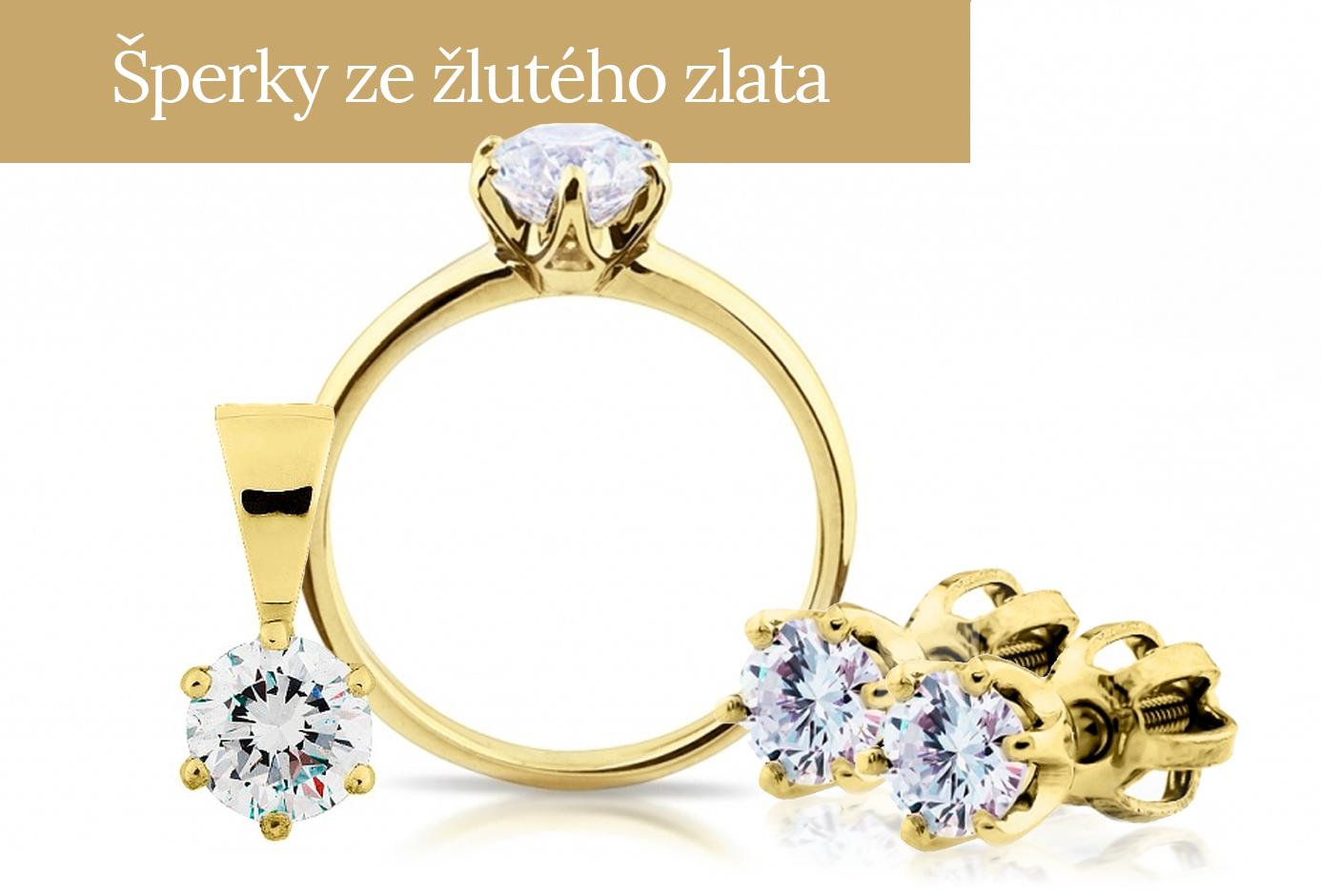Šperky ze žlutého zlata