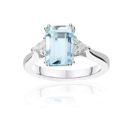 akvamarín - prsten