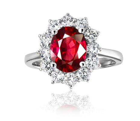 prsten s almadinem