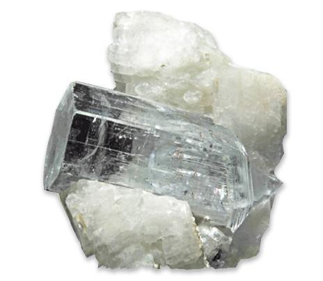 krystal bezbarvý beryl