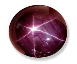hvězdicový efekt - rubín